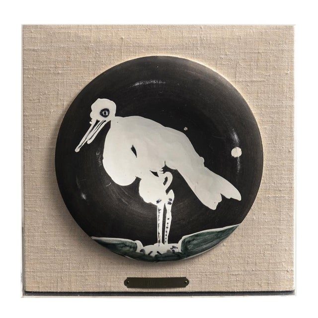 Pablo Picasso (1881 - 1973) Title: Oiseau No. 83 (Bird No. 83), 1963 Medium: Madoura white earthenware clay plate with...