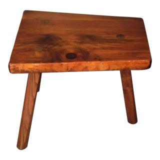 Vintage Rustic Organic Wood Tree Slab Tripod Side End Table Pioneer Furniture VT For Sale