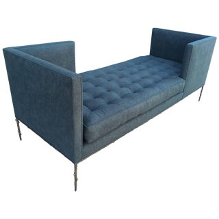 Amparo Calderon Tapia Tête–à–tête Daybed in Solid Bronze Flora Base For Sale