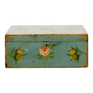 Painted American Folk Art Box For Sale