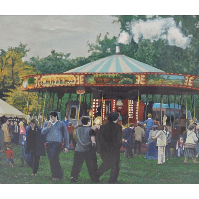 Carter's Steam Engine Merry Go-Round Painting by B. Smith - Image 2 of 5