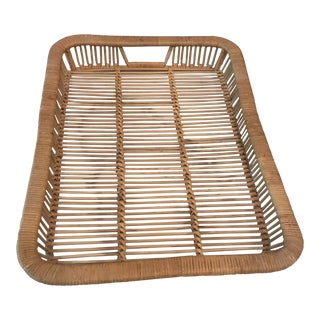 Rattan Serving Tray For Sale