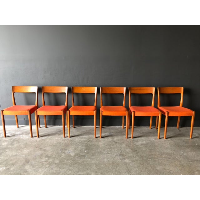 Swedish Teak Dining Chairs For Sale - Image 9 of 9
