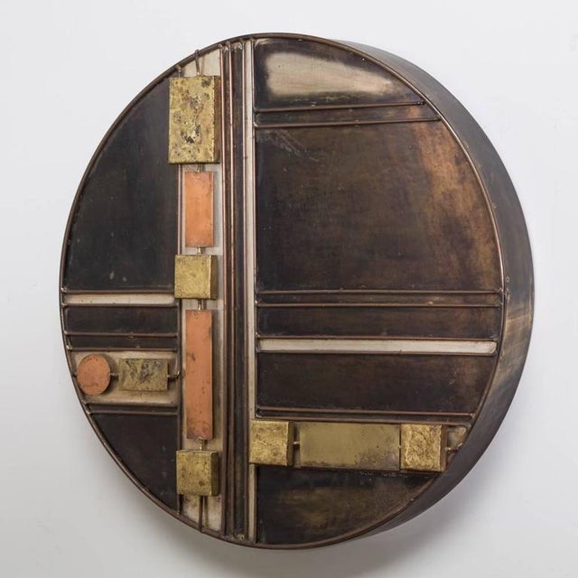 Small Rare Curtis Jere Disc Metal Wall Sculpture - Image 2 of 5