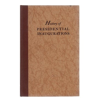"1933 ""History of Presidential Inaugurations"" Signed Boom For Sale"