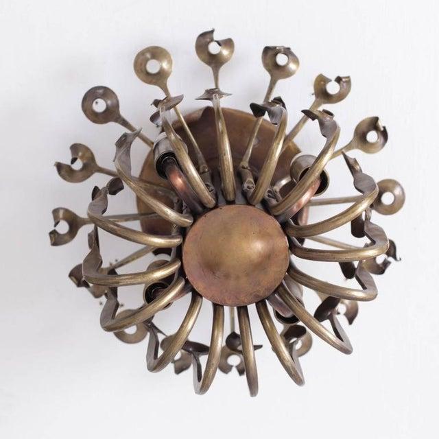 Brutalist One of a Kind Solid Bronze Brutalist Studio Flush Mount Handcrafted For Sale - Image 3 of 6