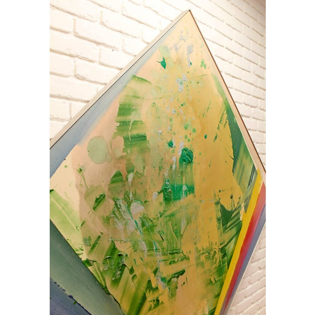 1970s Modern Acrylic Painting on Canvas by Darryl Hughto For Sale In Detroit - Image 6 of 10