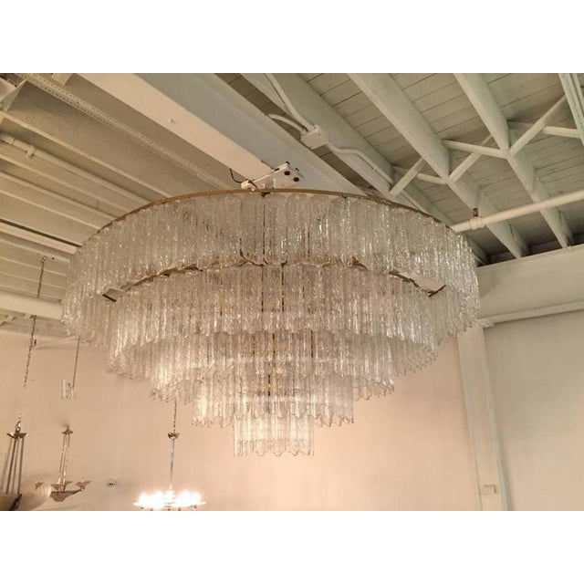 Hollywood Regency Tronchi Mid-Century Five-Tier Chandelier For Sale - Image 3 of 7