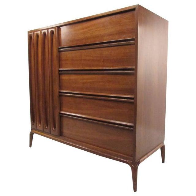 Brown Vintage Modern Modern Bedroom Dresser For Sale - Image 8 of 8
