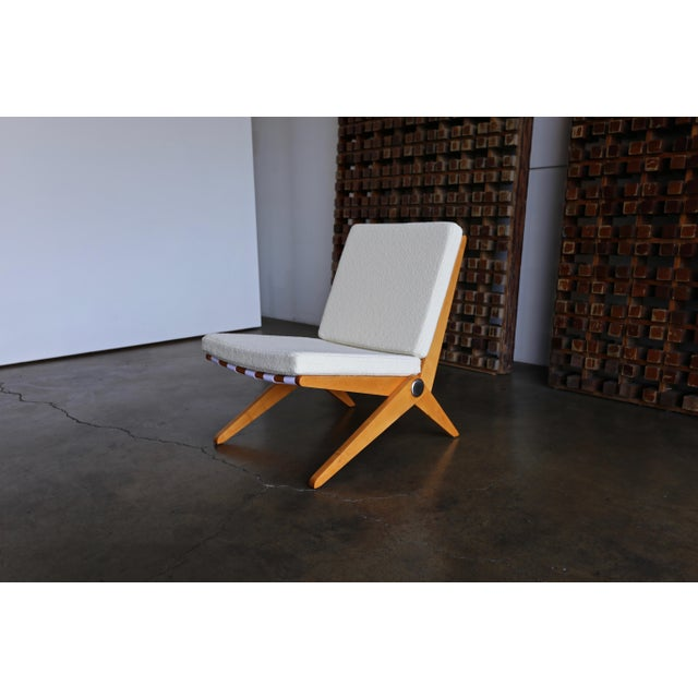 Scissor Lounge Chairs by Pierre Jeanneret for Knoll International - a Pair For Sale - Image 10 of 12