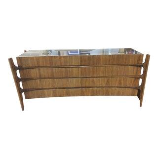 Mid Century William Hinn Scandinavian Walnut Dresser For Sale