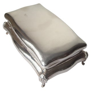 Buccellati Sterling Silver Large Jewelry Box, Stamped For Sale