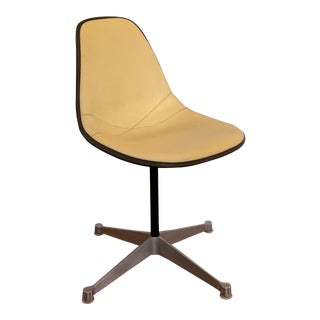 1970s Vintage Eames for Herman Miller Vinyl Padded Shell Chair For Sale