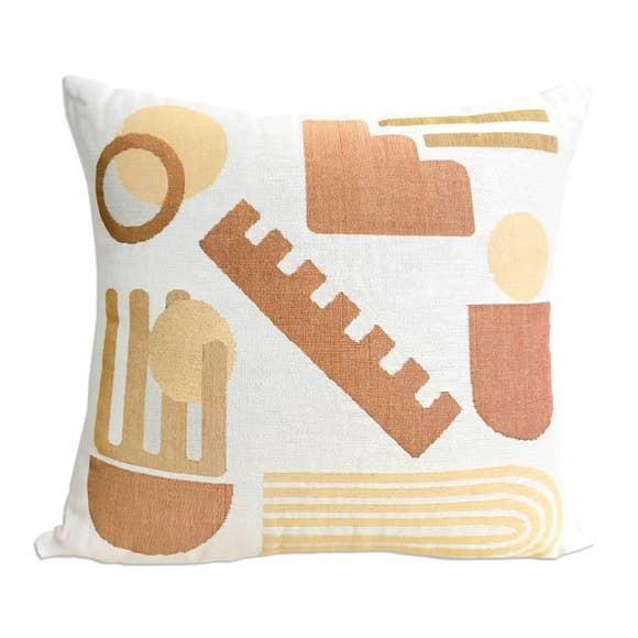 """Abstract """"Forma"""" Woven Abstract Pillow For Sale - Image 3 of 3"""