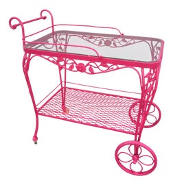 Image of Wrought Iron Bar Carts and Dry Bars
