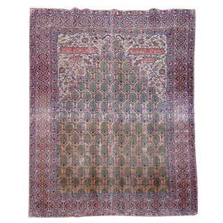 Indo-Persian Prayer Rug - 4′3″ × 5′1″ For Sale