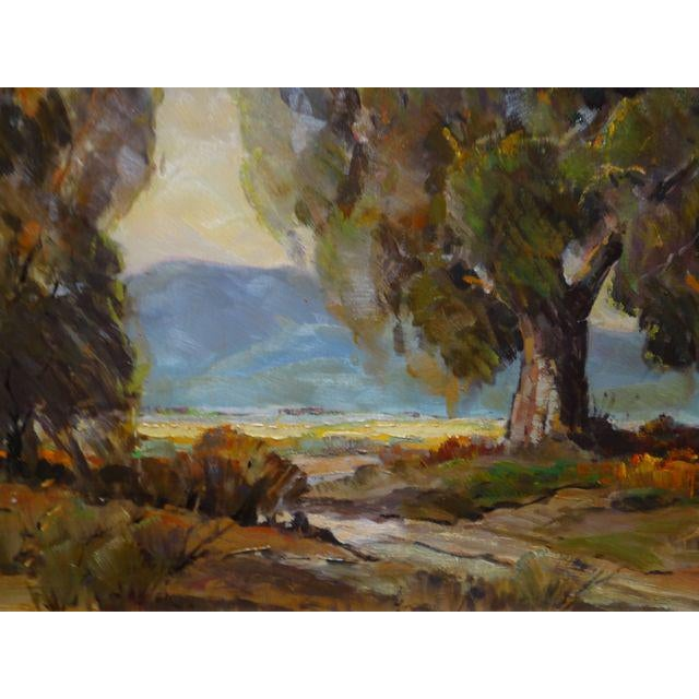 """1950s Vintage Walt Lee """"After the Rain"""" Oil on Canvas Painting For Sale - Image 4 of 9"""