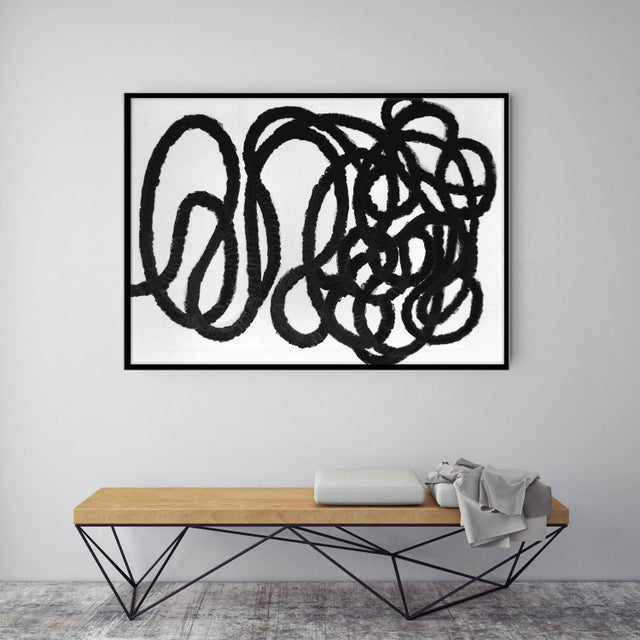 "Abstract Squiggle No. 2 Original Painting - 40"" x 50"" - Image 3 of 5"
