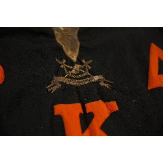 :: Vintage Black and Orange Sorority felt banner circa 1950s. Likely Phi Delta Kappa - Greek sorority (maybe via Princeton...