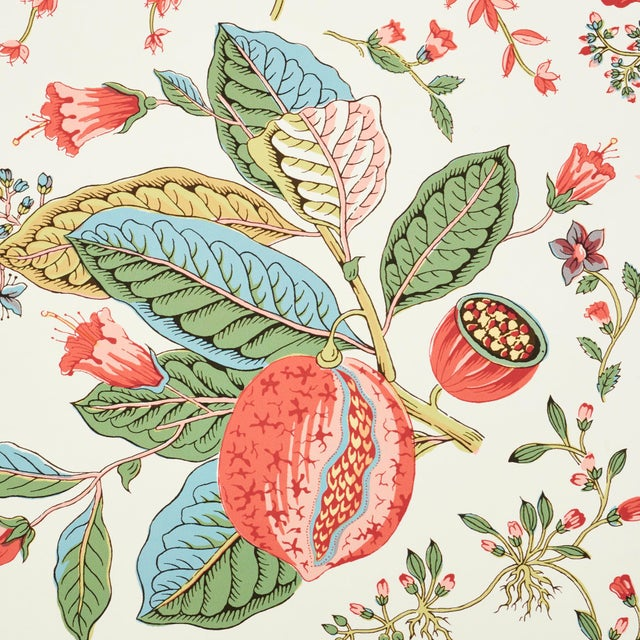 Contemporary Schumacher Pomegranate Botanical Wallpaper in Document (8 yards) For Sale - Image 3 of 5