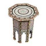 Image of Moroccan Octagon Inlay Side Table For Sale