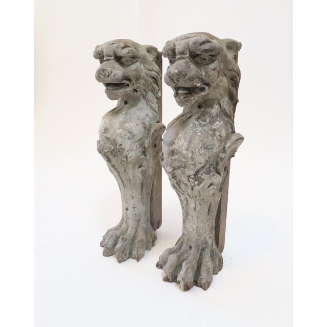 Lion Fireplace Bracket Molds - A Pair - Image 3 of 8