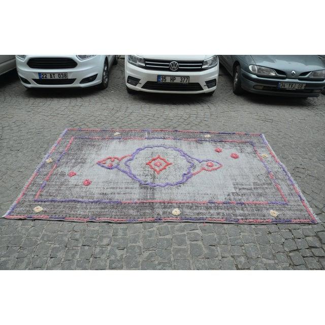 Handmade Turkish Oushak Rug - 5′6″ × 8′11″ - Image 5 of 6