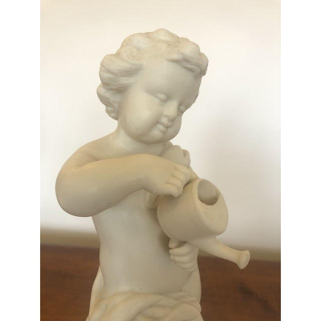 Parian Porcelain Shell Motif Dish With Sculptural Putti For Sale - Image 4 of 10