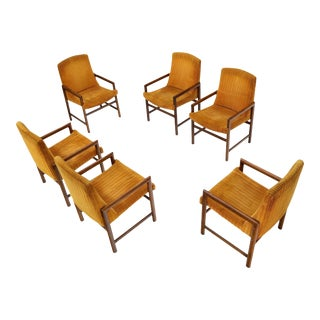 Set of 6 Mid-Century Modern Baughman Dining Armchairs For Sale