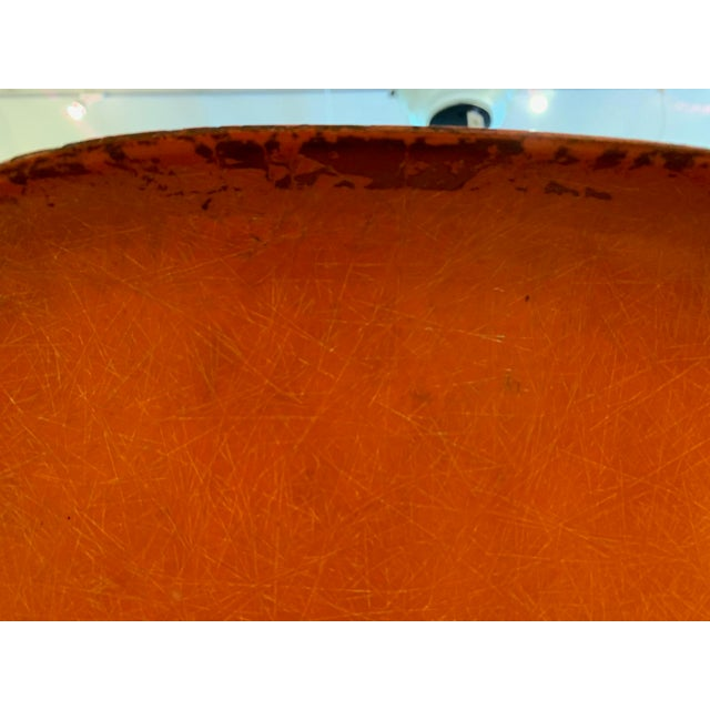 Set of 3 Bright Orange Mid Century Modern Shell Eames Chairs For Sale - Image 11 of 13
