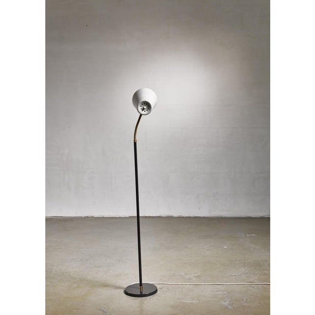 Metal Yki Nummi Floor Lamp for Orno, Finland For Sale - Image 7 of 8