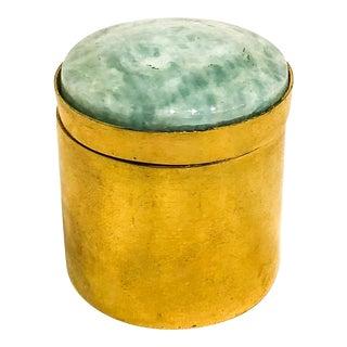 Brass Ring Box With Amazonite