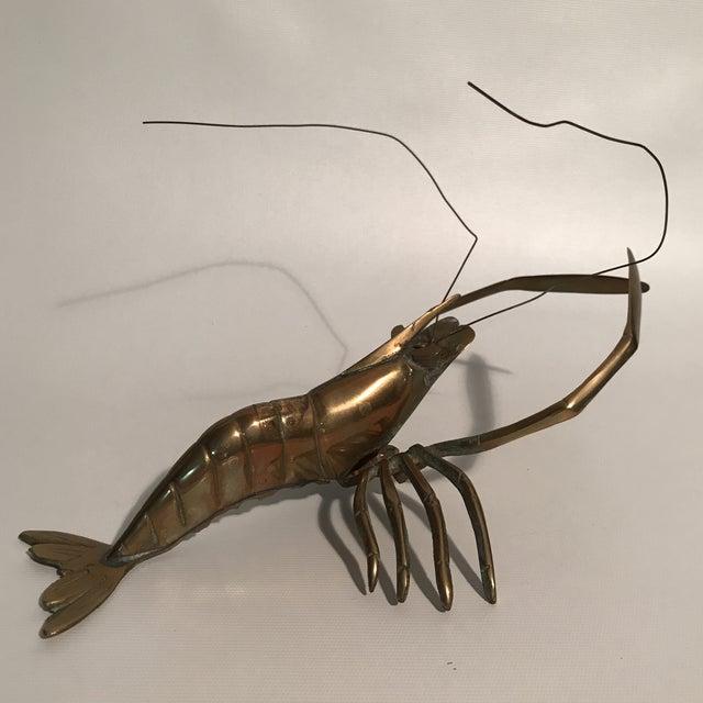 Brass Lobster Sculpture For Sale - Image 9 of 9
