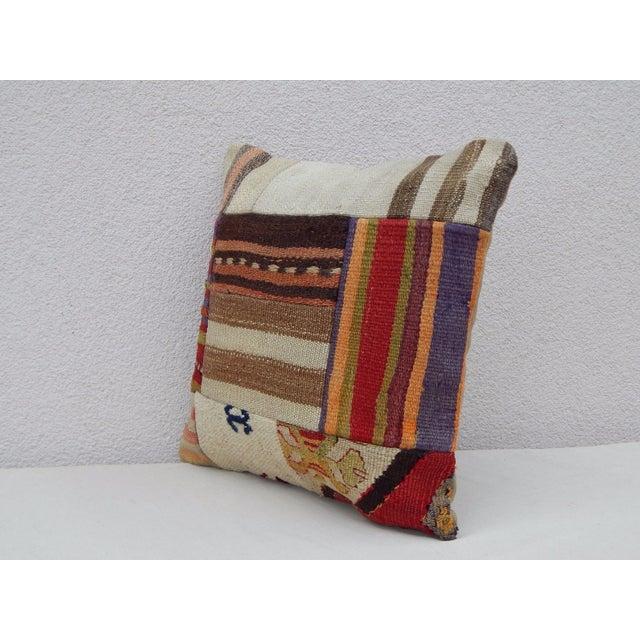 Rustic Handmade Turkish Kilim Pillow For Sale - Image 3 of 6