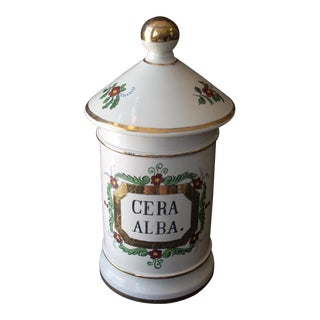 Vintage French Pharmacy Jar For Sale