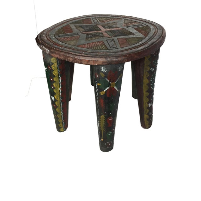 """African Lg Nupe Stool Nigeria 16.75"""" H by 20.5"""" W For Sale - Image 4 of 13"""