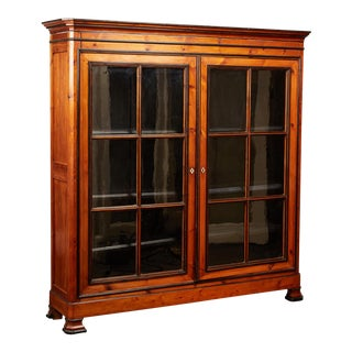 19th C. English Pine Cabinet For Sale