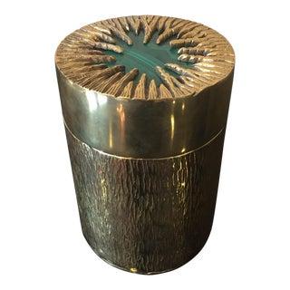 Cylindrical Malachite Box