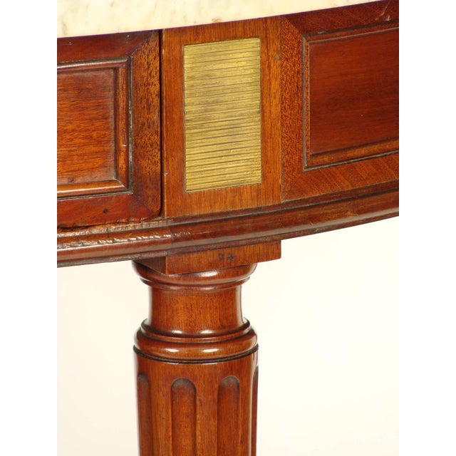 Brass Louis XVI Style Console Table For Sale - Image 7 of 11