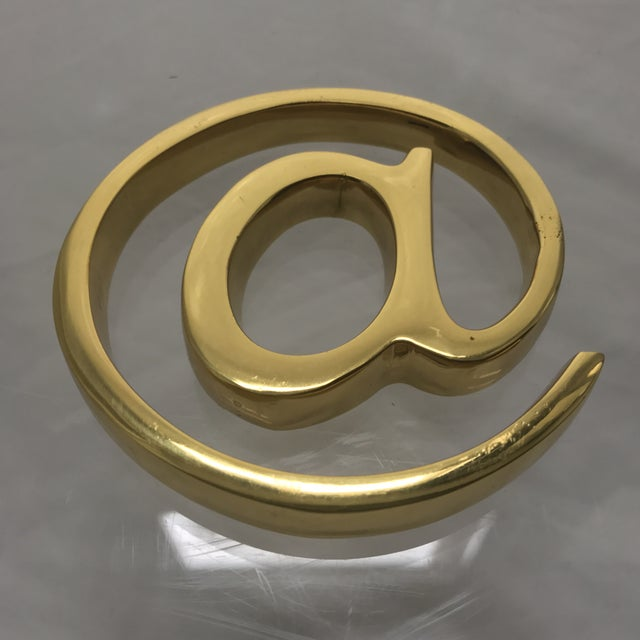 Solid Brass At Sign Paperweight For Sale In New York - Image 6 of 7