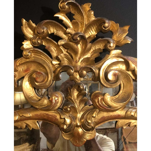 19th Century Gilt Mirror Wall or Console Mirror, French Finely Carved For Sale - Image 10 of 12