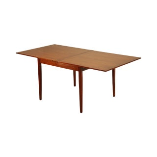 """Wright Table Company Cherry 36"""" - 72"""" Square Folding Dining Table For Sale"""