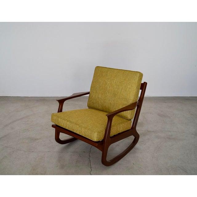 Mid-Century Modern Danish Modern Ib Kofod Larsen Rocking Chair For Sale - Image 3 of 13