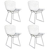 Image of Vintage Original Wire Chairs by Harry Bertoia for Knoll- Set of 4 For Sale