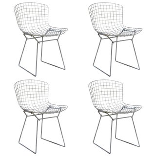 Vintage Original Wire Chairs by Harry Bertoia for Knoll- Set of 4 For Sale
