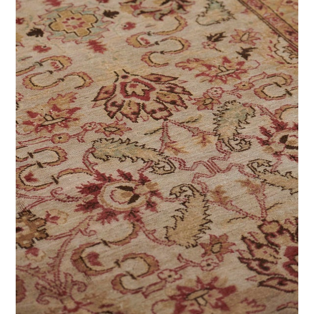 Handwoven Revival Agra Style Wool Rug For Sale - Image 10 of 13