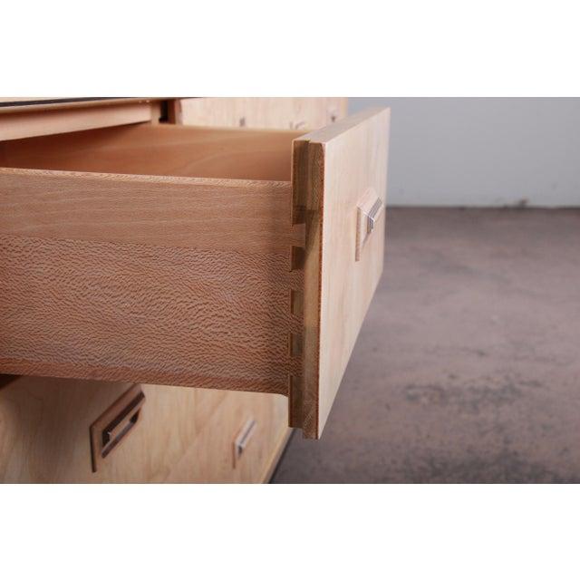 Burl Wood Long Dresser Credenza by Henredon For Sale - Image 9 of 13