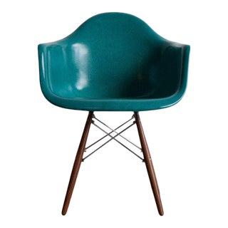 Wood Dowel Base Peacock Fiberglass Armchair For Sale