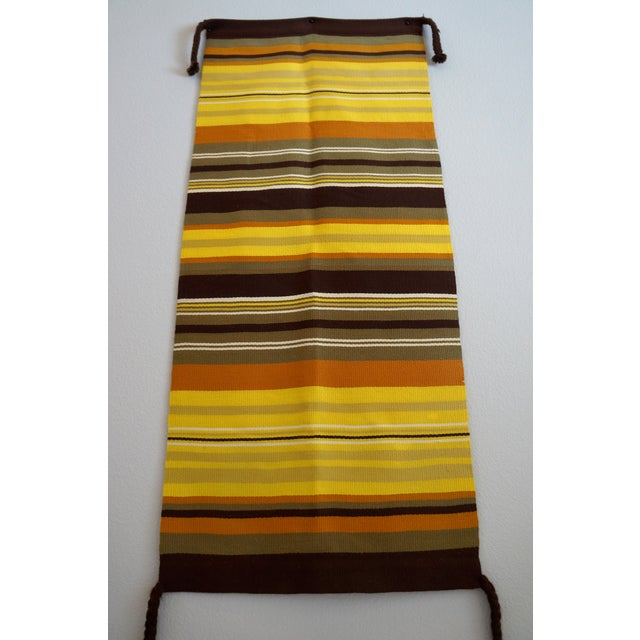 Mid-Century Modern Wool Wall Hanging - Image 4 of 5
