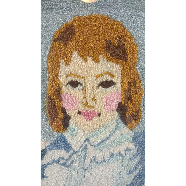 Vintage Blue Boy by the Sea Framed Embroidery - Image 3 of 9